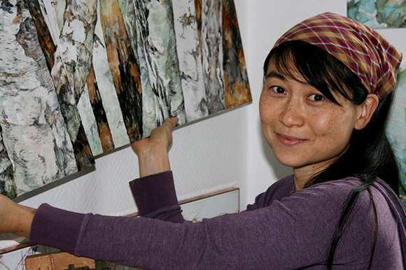 Ausstellungseröffnung Rie Pomper-Takahashi