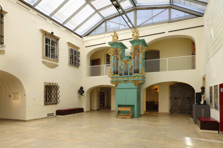 Aula mit der Haydn-Orgel, Foto: © Wilfried Bahnmüller