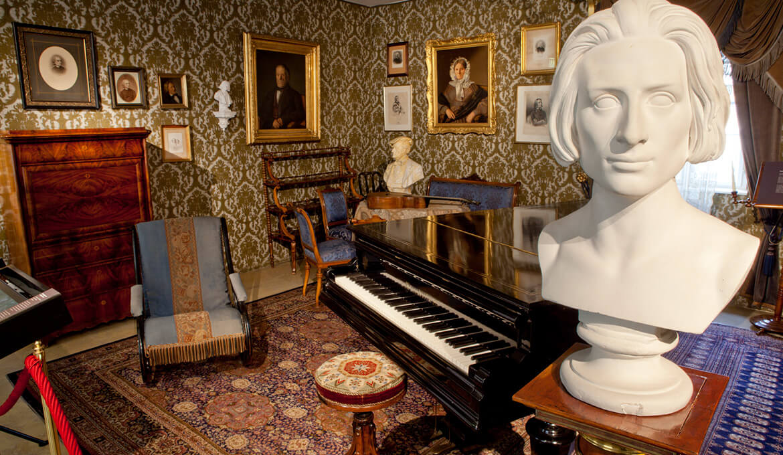 Der Blaue Salon Liszts, © Foto im Lohnbuero